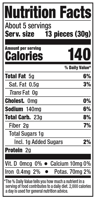 Lundberg Rice Cake Minis Ginger Seaweed Nutrition Facts