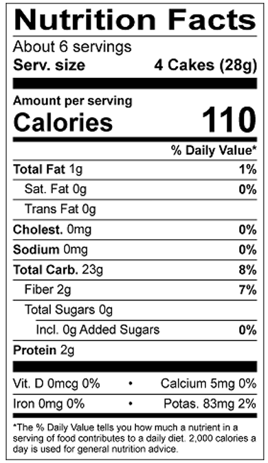 Thin Stackers 5 Grain Nutrition Facts