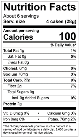 Thin Stackers Basil Thyme Nutrition Facts