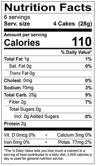 Thin Stackers Brown Rice Lightly Salted Nutrition Facts