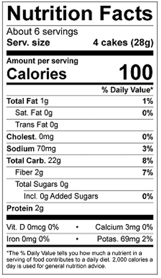 Thin Stackers Cracked Black Pepper Nutrition Facts