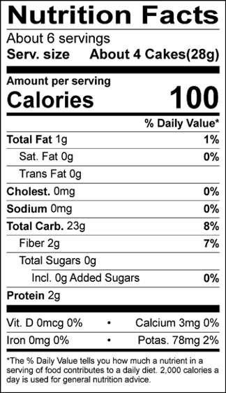 Thin Stackers Red Rice Quinoa Nutrition Facts