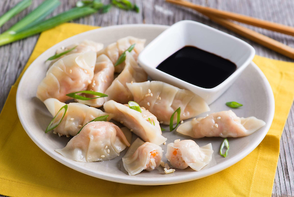 Shrimp and Brown Rice Potstickers