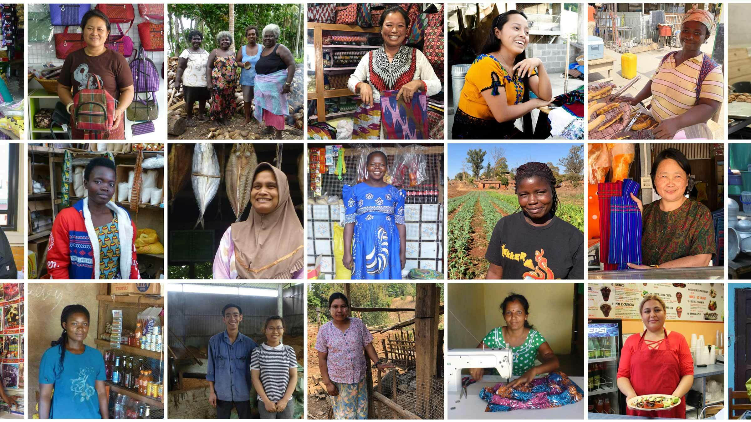 Whole Planet Foundation images of supported entrepreneurs