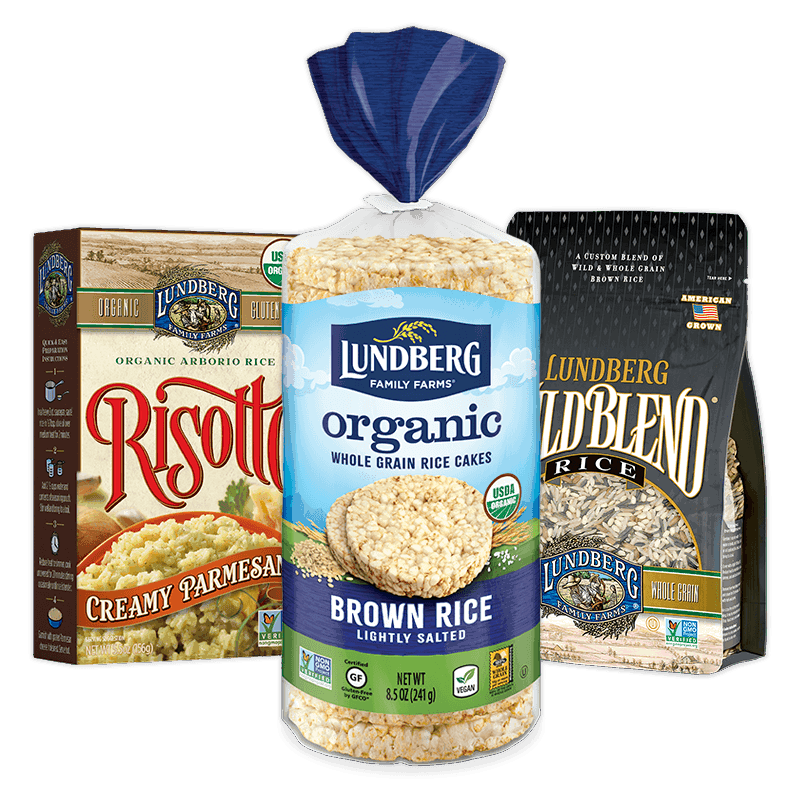 Lundberg rice cakes, wild blend and risotto