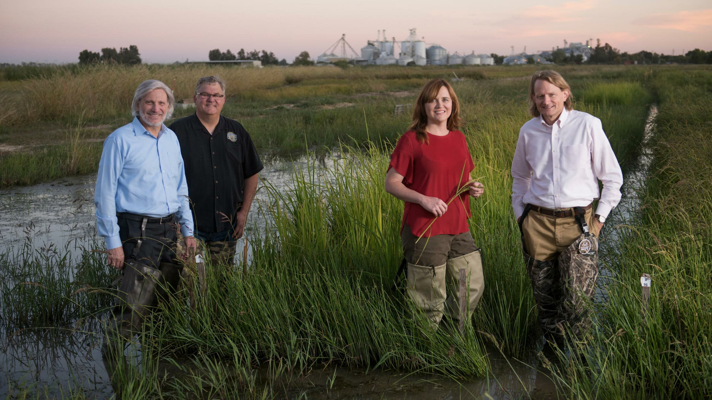 The Lundberg Family in a rice field