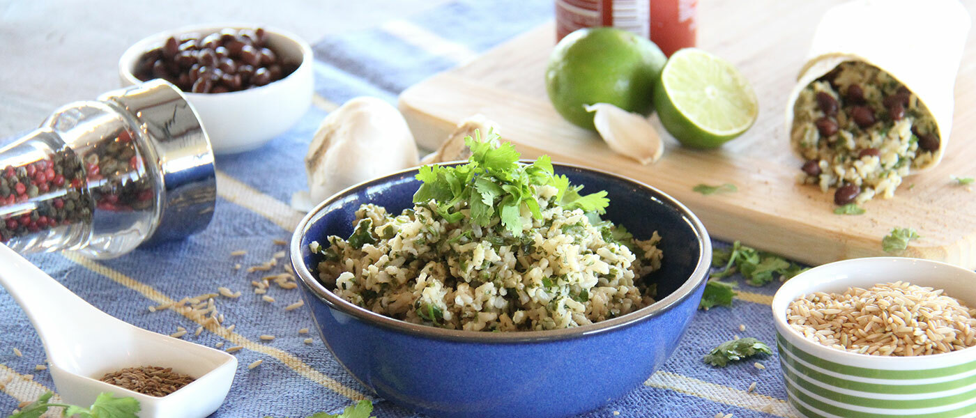Sprouted Brown Basmati Rice bowl