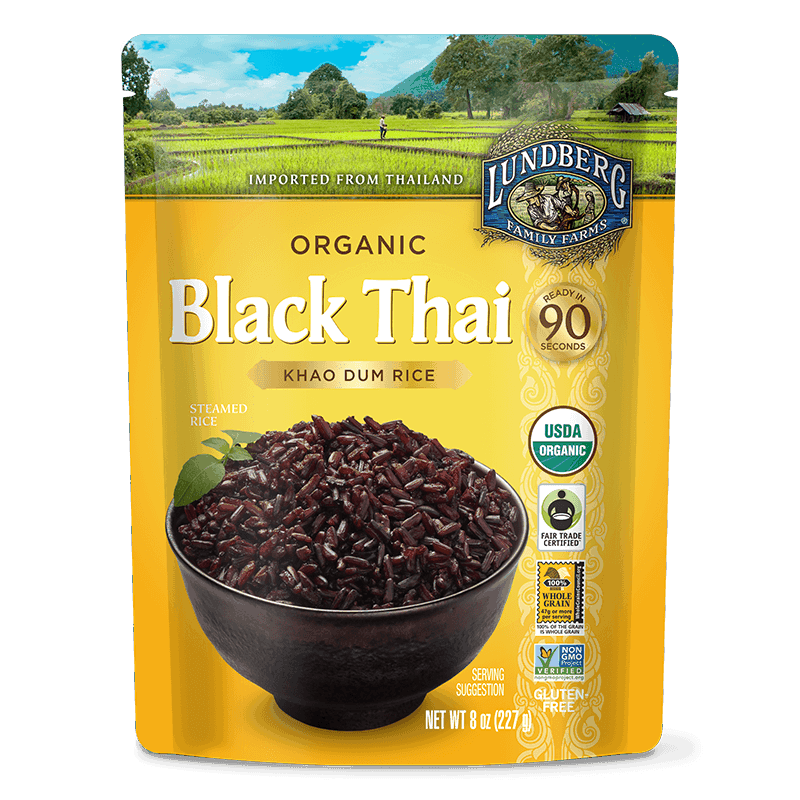 Organic Ready to Heat Black Thai Rice