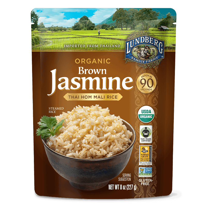 Organic Ready to Heat Brown Thai Jasmine Rice