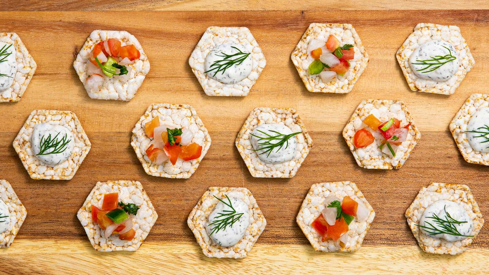 Lundberg Rice Cakes Minis with toppings