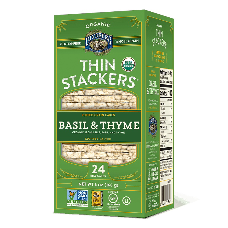 Organic Thin Stackers - Basil & Thyme