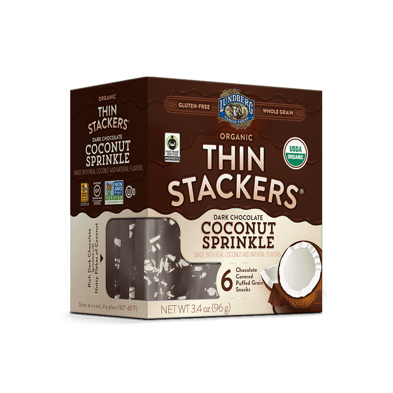 Organic Chocolate Thin Stackers® - Coconut Sprinkle