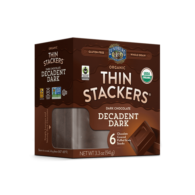 Organic Chocolate Thin Stackers® - Decadent Dark