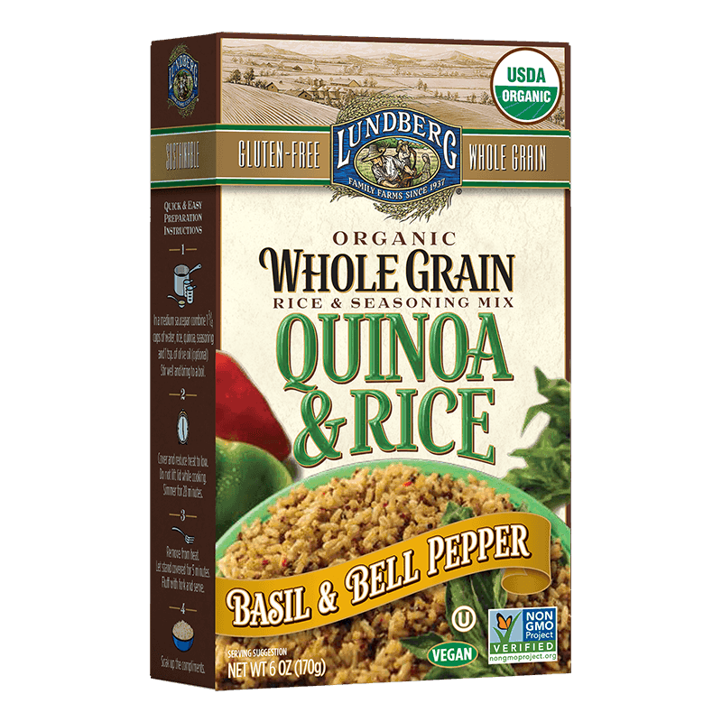 Organic Whole Grain Rice & Quinoa - Basil & Bell Pepper