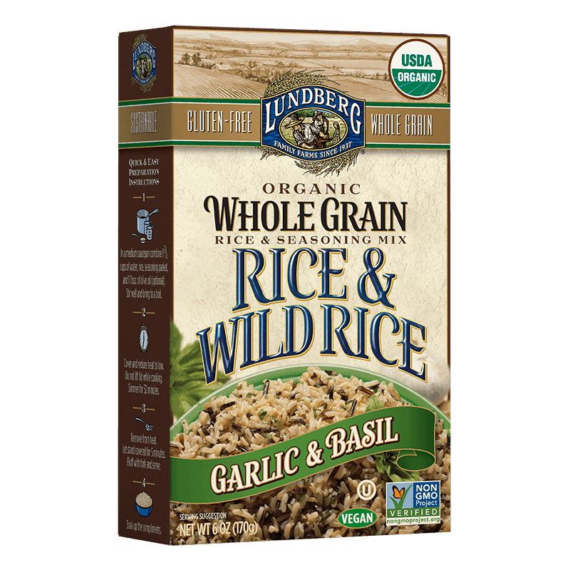 Organic Whole Grain & Wild Rice - Garlic & Basil