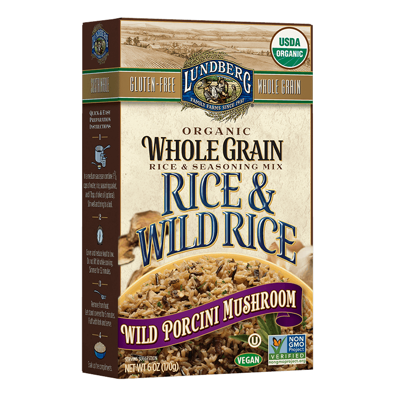 Organic Whole Grain & Wild Rice - Wild Porcini Mushroom