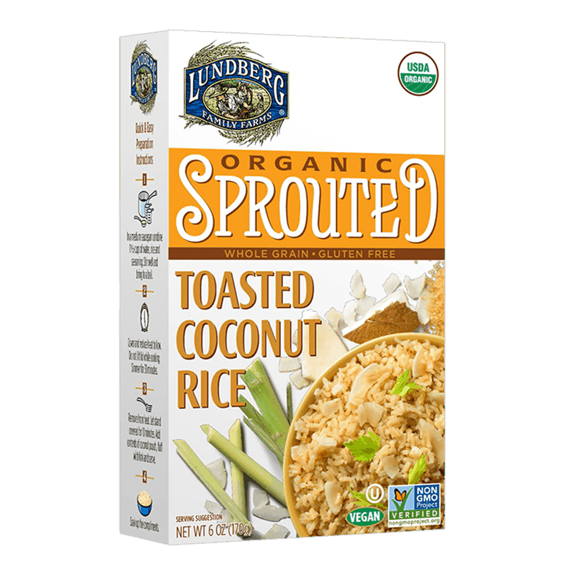 Organic Sprouted Toasted Coconut Rice