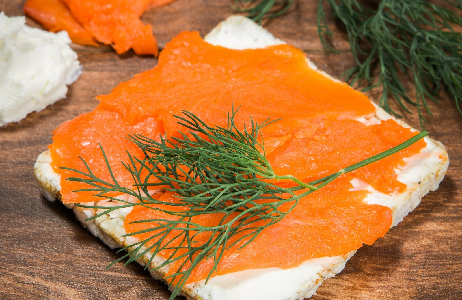 Lundberg Thin Stacker with Salmon and Dill