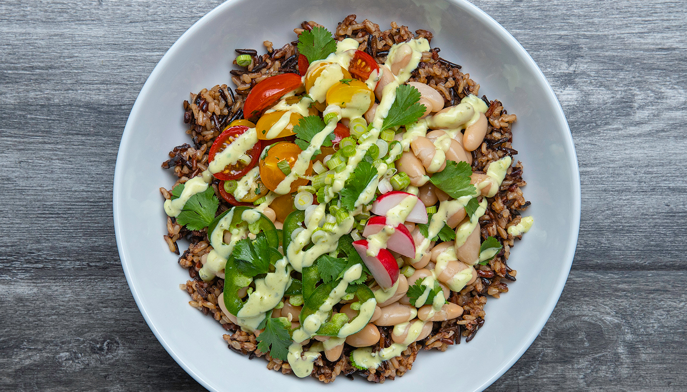 Wild Blend rice and vegetable bowl