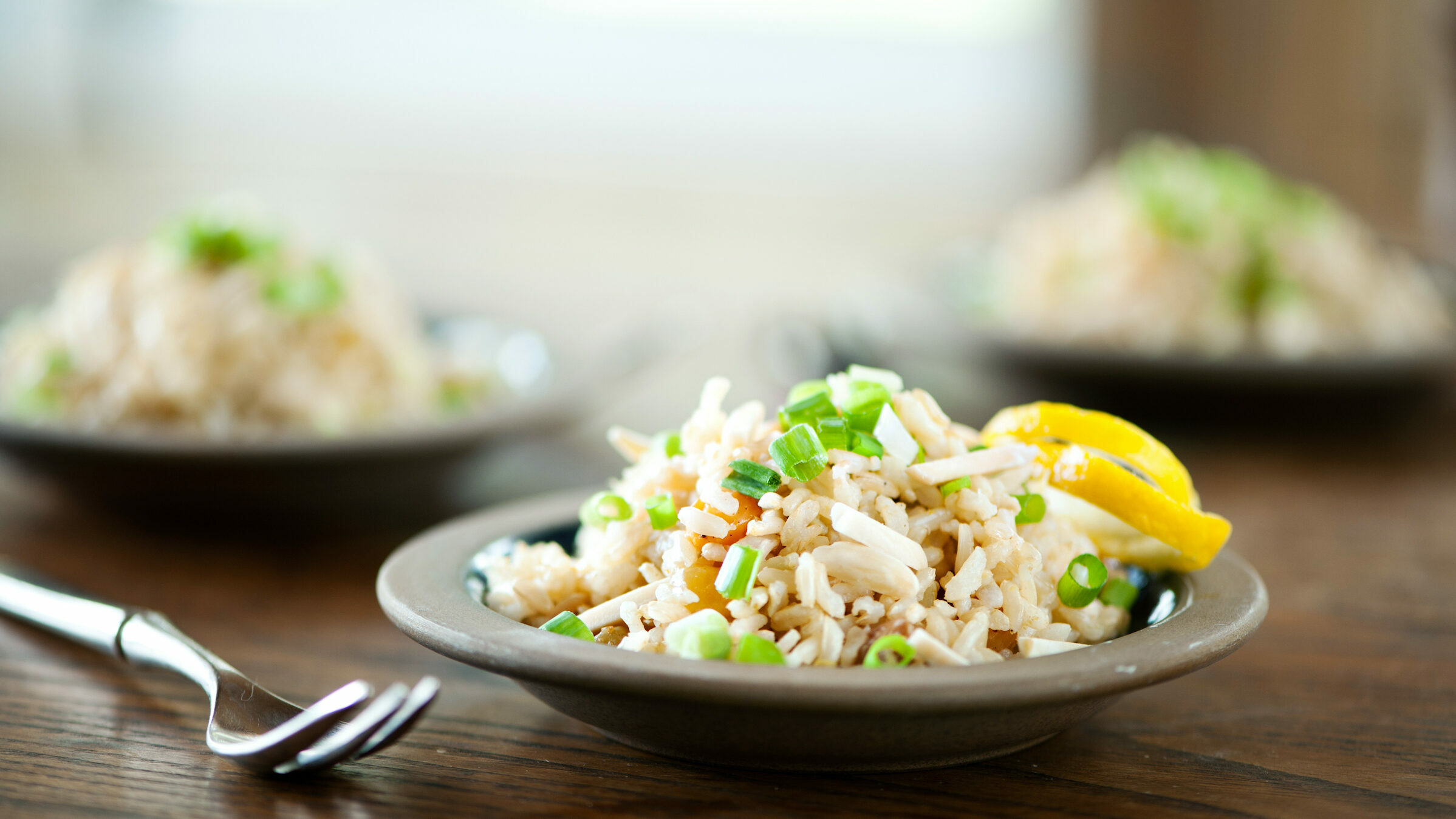 Brown Basmati Pilaf with Almonds and Raisins