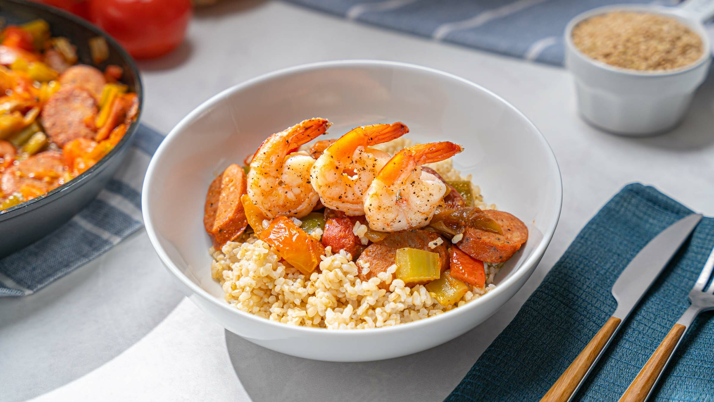 Creole Rice with Shrimp & Sausage