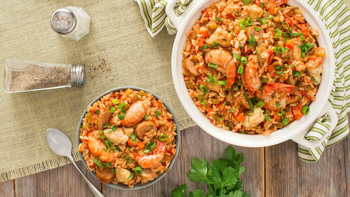 Easy Brown Rice Jambalaya