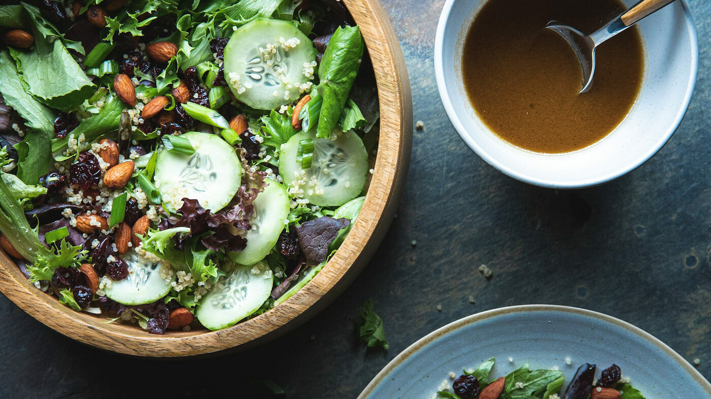 Green Salad with Quinoa