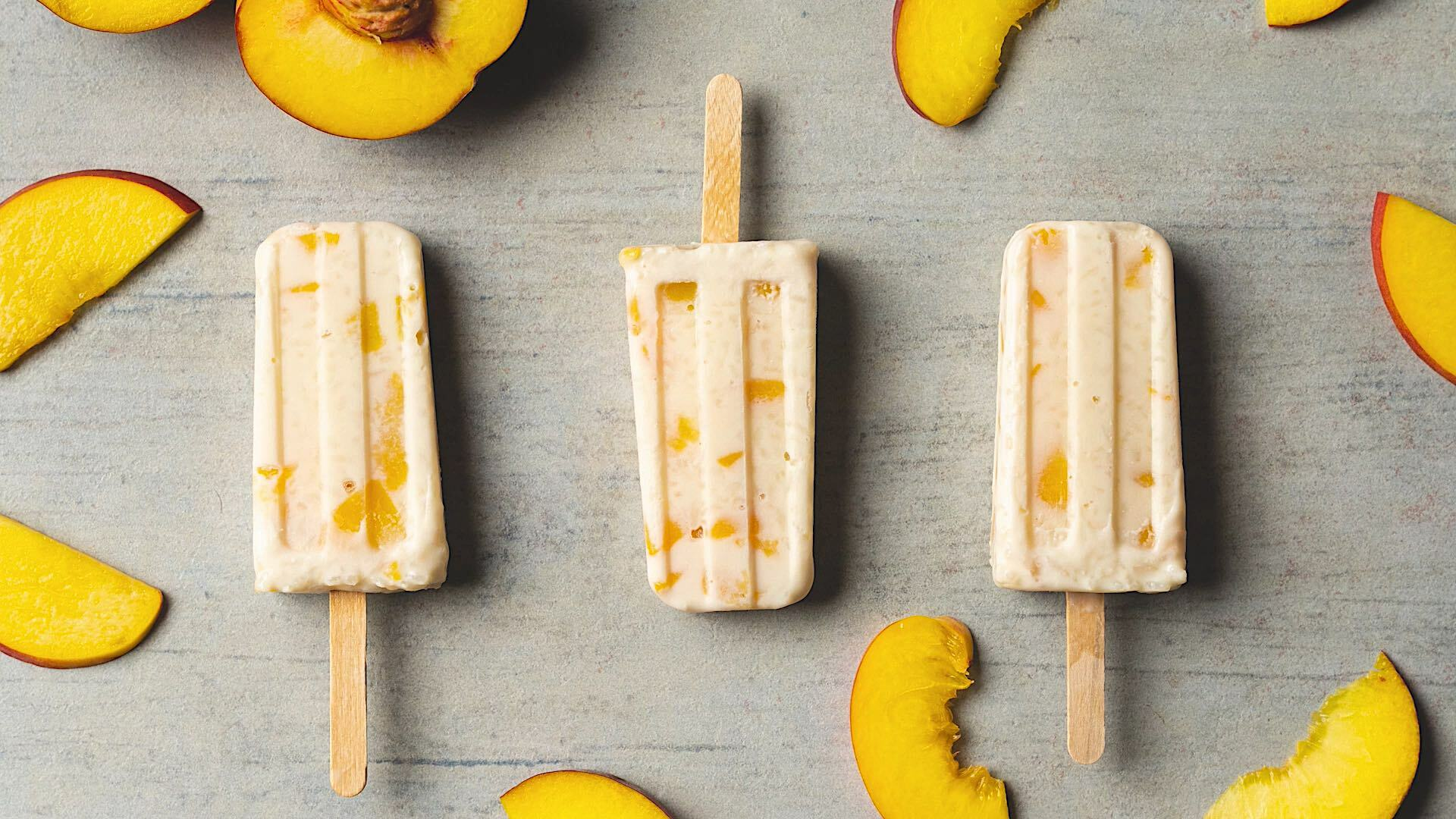 Peaches Cream Rice Pudding Pops