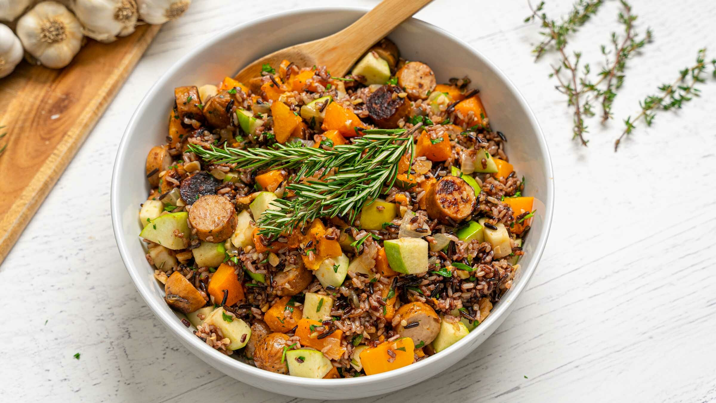 Wild Blend with Apples Sausage Butternut Squash