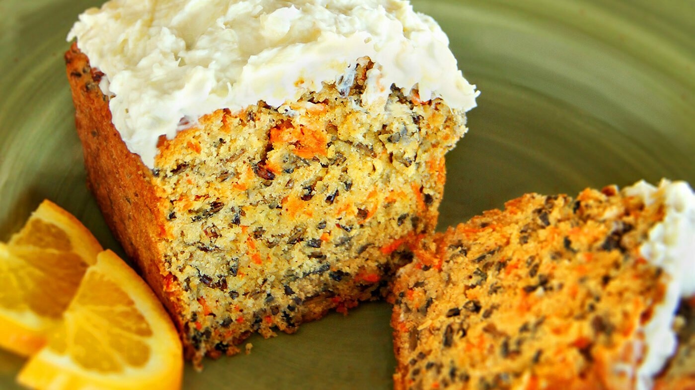 Wild Rice and Carrot Tea Cake