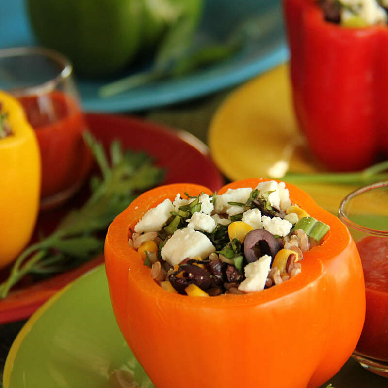 Countrywild Stuffed Bell Peppers with Feta Cheese