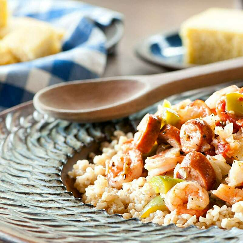Creole Rice with Shrimp and Sausage