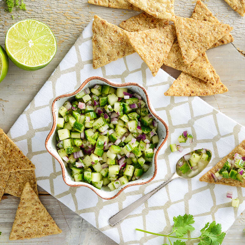 Cucumber Salsa with Honey and Lime