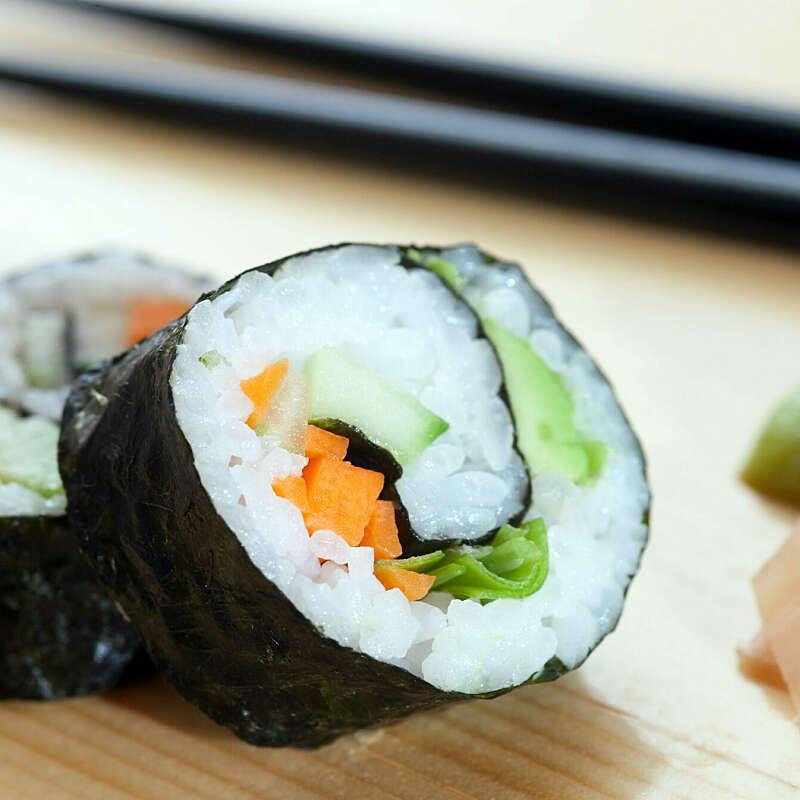Simple Veggie Sushi