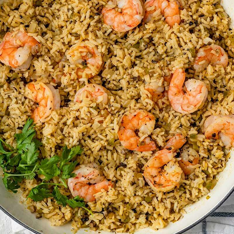 One Pan Shrimp & Rice