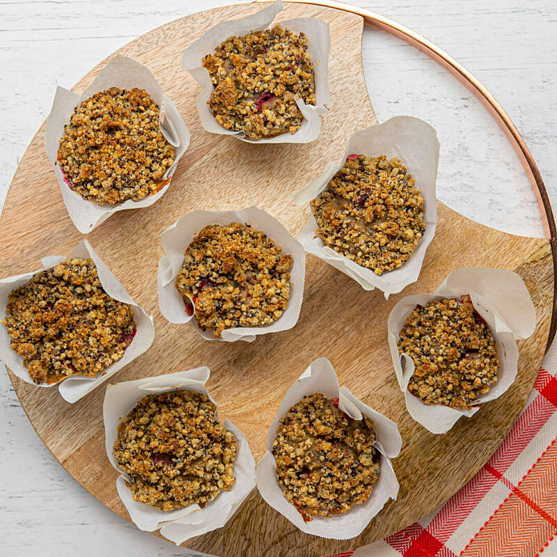 Raspberry Quinoa Breakfast Muffins