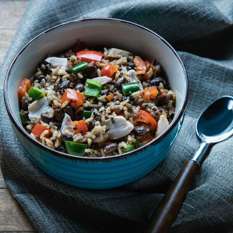 Simple Rice Quinoa Bowl