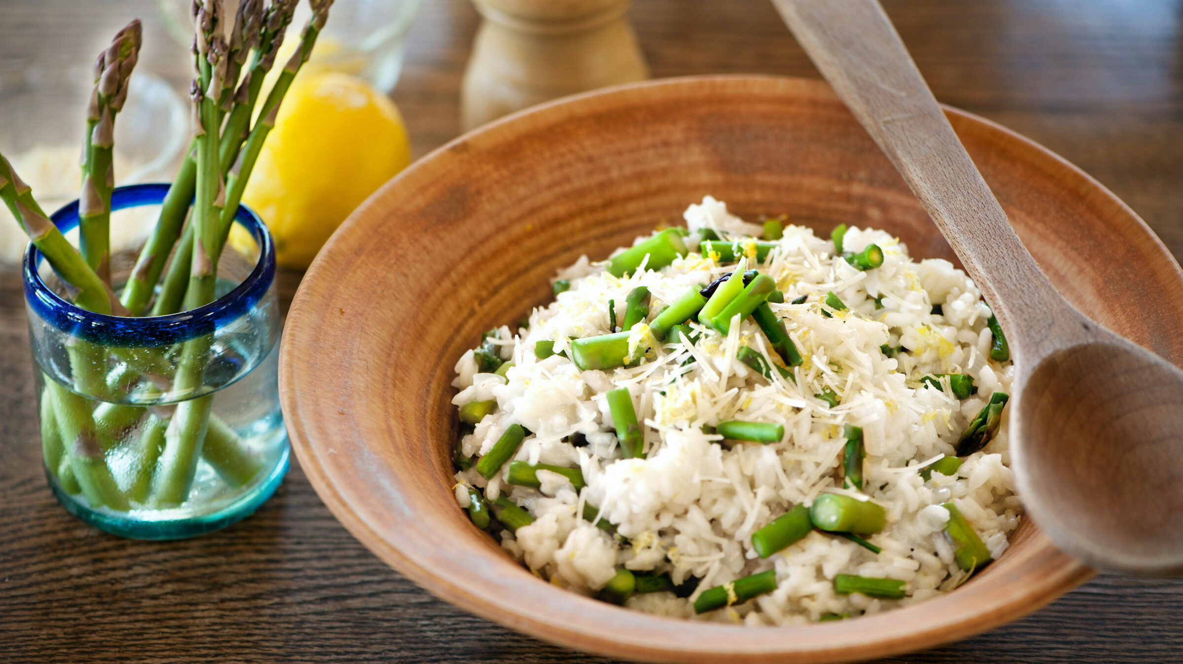 Lemon Risotto with Fresh Asparagus