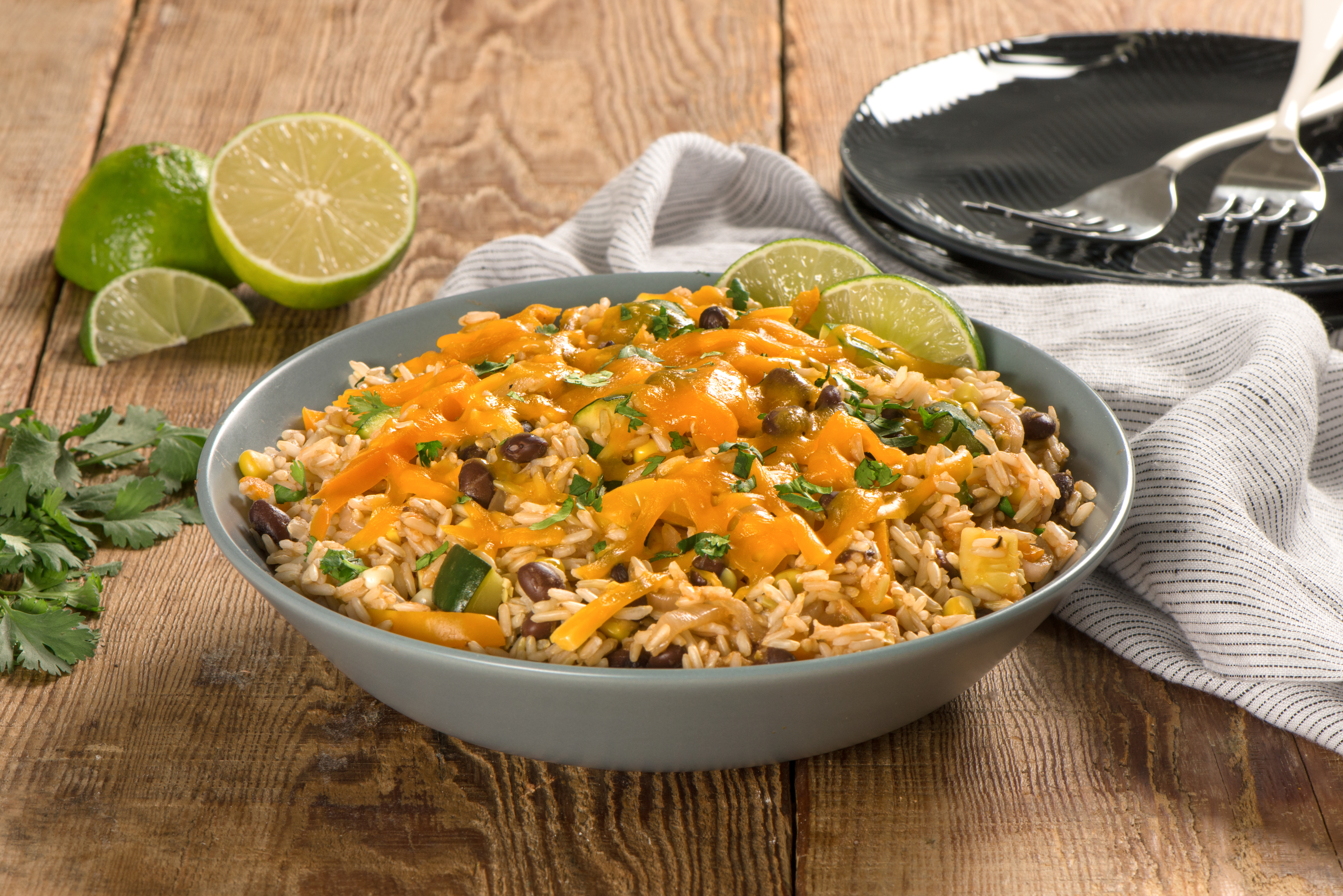 Vegetable Enchilada Rice Bake