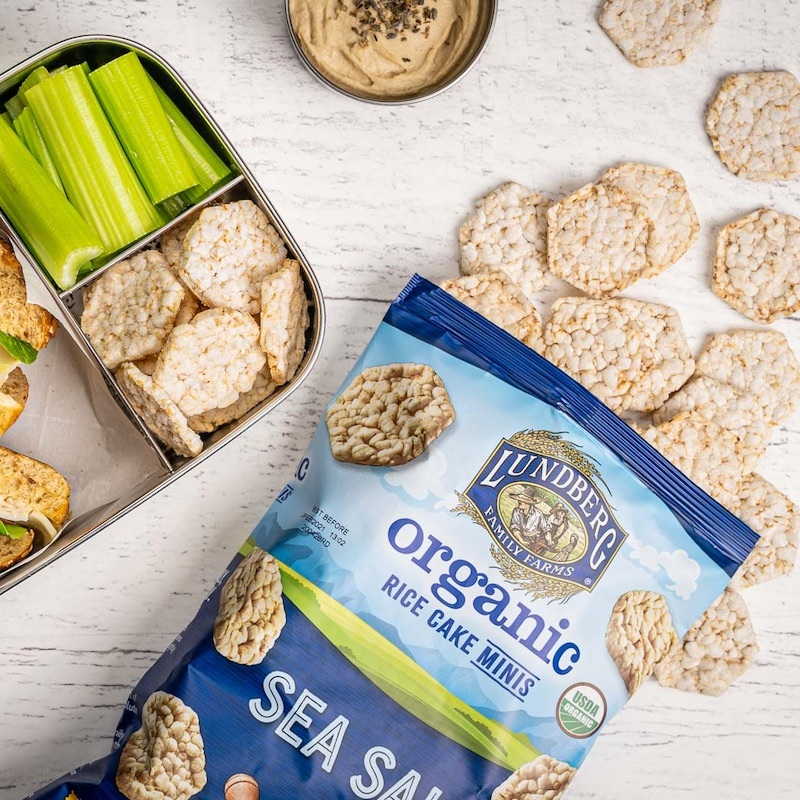 Sea Salt Rice Cake Minis make for a perfect addition to any lunchbox.